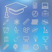 Iconos del esquema de educación — Vector de stock