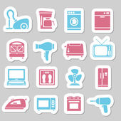 Home appliance stickers — Stock Vector