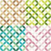 Four abstract seamless patterns — Stock Vector