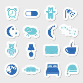 Sleep stickers — Stock Vector