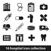Hospital icons — Stock Vector
