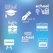 Back to school symbols — Stock Vector