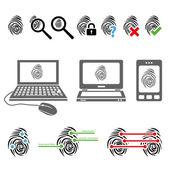 Fingerprint icons — 图库矢量图片