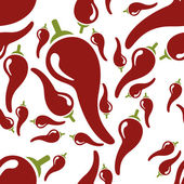 Chilli seamless pattern — Stock Vector