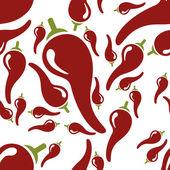 Chilli seamless pattern — Stock Vector