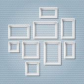 White frames — Stock Vector