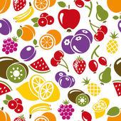 Fruit seamless pattern — Stock Vector