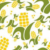 Corn seamless pattern — Stock Vector