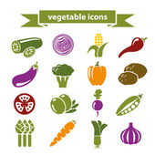 Vegetable icons — Stock Vector