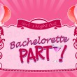 Illustrated sticker for bachelorette party — Stock Vector #12892468