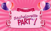Illustrated sticker for bachelorette party — Stock Vector
