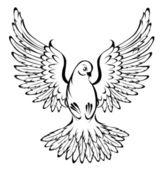 Flying dove — Stock Vector
