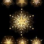 Jewelry snowflake — Stock Vector #34795275