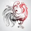 Red rooster — Stock Vector #34794659