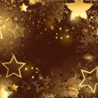 Brown background with golden stars — Stok Vektör