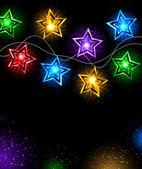 Yıldız çelenk — Stok Vektör