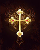 Golden Cross — Vector de stock