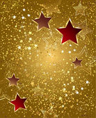 Gold foil with stars — Stock Vector