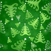 Seamless background with Christmas trees — Stock Vector