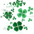 Collection of leaf clover — Stock Vector