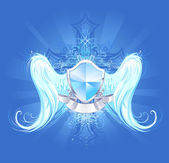 Angelic protection — Stock Vector