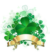 Clover with banner — Stock Vector
