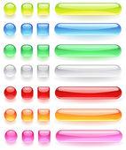 Iconos de computadora del brillante cristal coloreado — Vector de stock