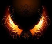 Fiery wing — Stock Vector