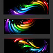Banner with rainbow pattern — Stock Vector #38647597