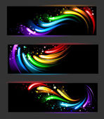 Banner with rainbow pattern — Stock Vector