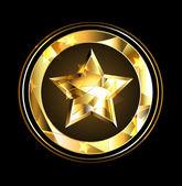 Gold Star foil — Stock Vector