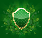Green shield — Stock Vector