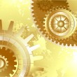 Постер, плакат: Old background with gold gears