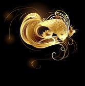 Jeweler goldfish — Stock Vector