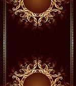 Jewelry design on a dark brown background — Stok Vektör