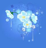 Magic white flowers — Stock Vector