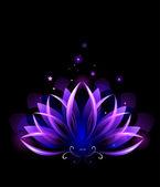 Purple lotus — Stock Vector