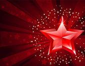 čistá rudá hvězda — Stock vektor