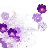Stylisées violet — Vecteur