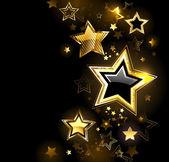 Parlak altın yıldız — Stok Vektör