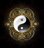 Symbol yin yang — Stock Vector