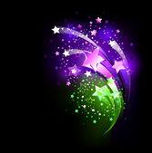 Purple fireworks — Stock Vector