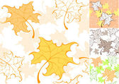 Pattern from autumn sheet — Stock Vector