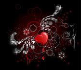 Glamour heart — Stock Vector