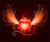 Heart of the phoenix — Stock Vector