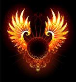 Banner with wings phoenix — Stock Vector