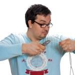 Man posing electrician — Stock Photo #6440435