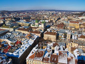 Lviv from the sky — Stock Photo