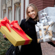 Royalty-Free Stock Photo: Woman holding gifts