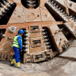 Huge tunnel boring machine — Stock Photo #20111935